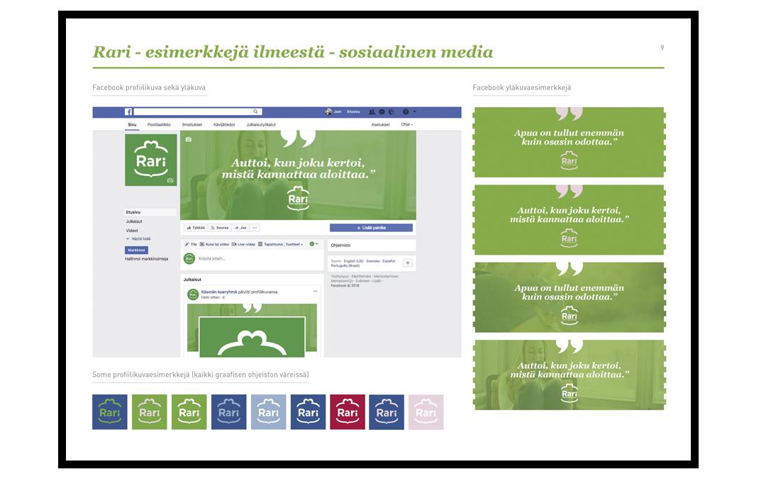 Esimerkki Rari-hankkeen ilmeestä sosiaalisessa mediassa