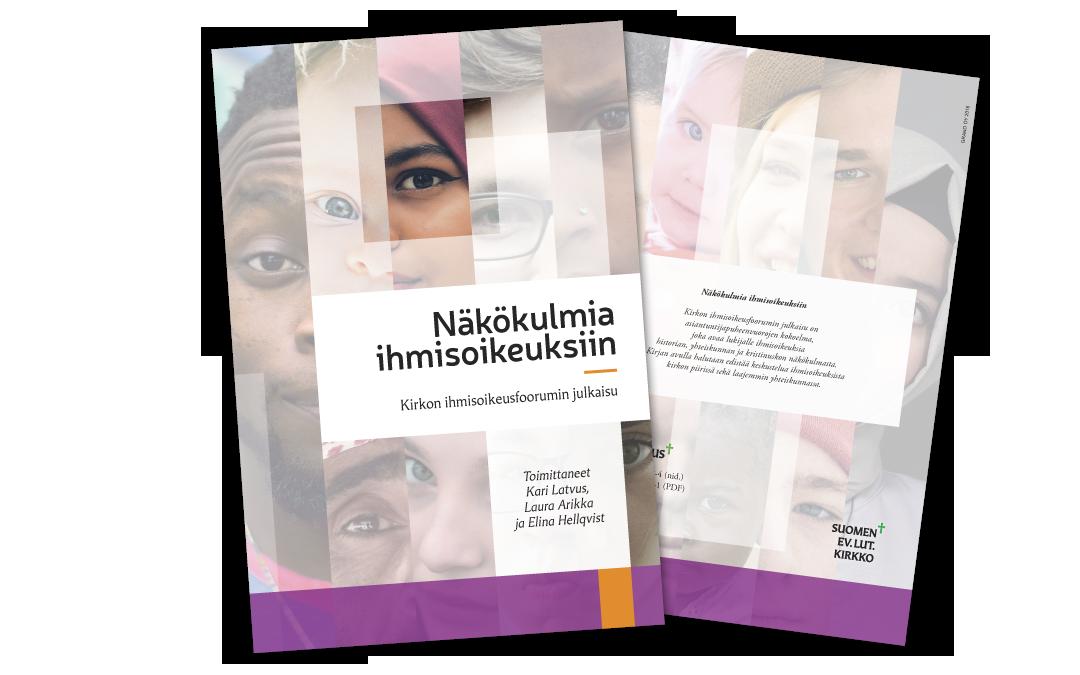 Näkökulmia ihmisoikeuksiin - julkaisun ilme ja taitto